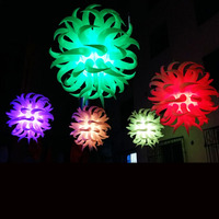 Free shipment diameter 1.5m Led star effect stage lighting decoration inflatable lighting star with led for decoration