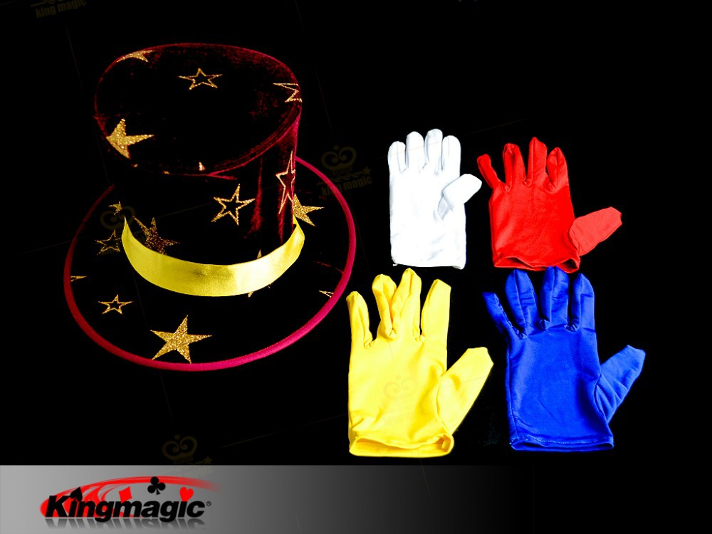 Color Changing Gloves, A multiple Quick Change with gloves, Stage magic trick, Magic Gimmick