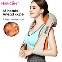 U Shape Body Electrical Shiatsu Back Neck Shoulder Body Massager Infrared Heated 3D Shiatsu Kneading Massager Car Home Dual Use