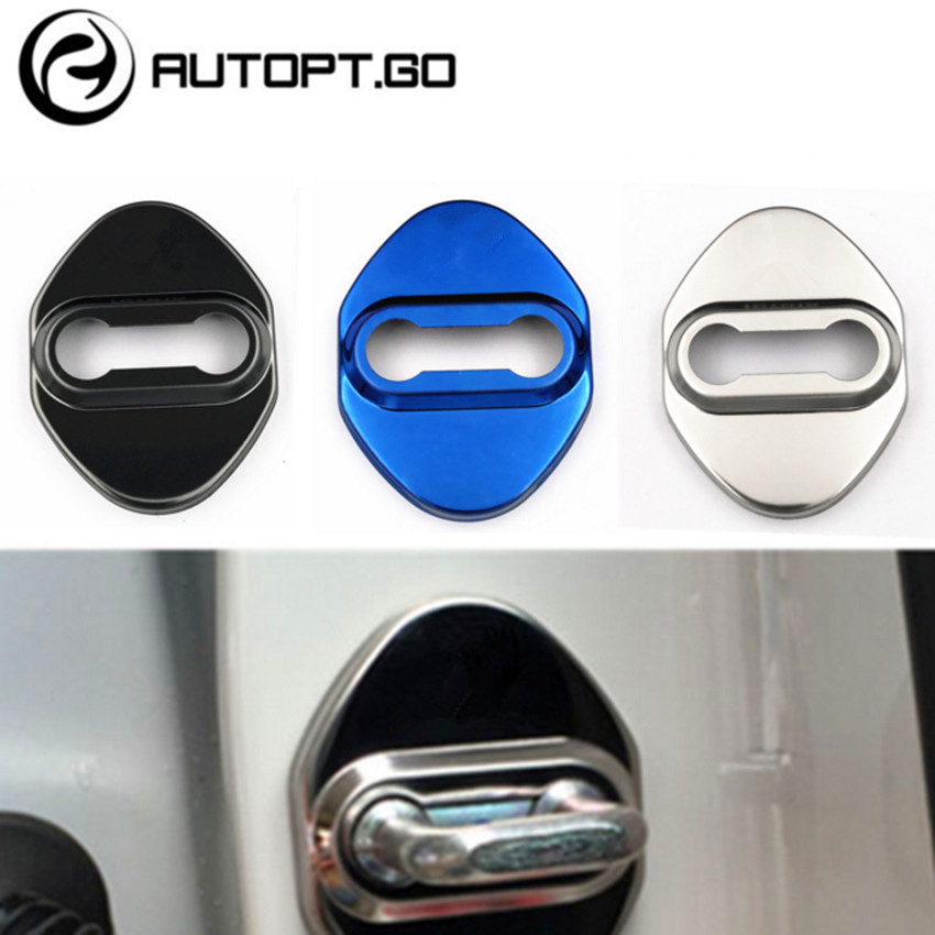 4 Pcs Auto Door Lock Protective Cover Stickes With 3M For 2015 Toyota Camry Corolla Rav4 Door Lock Anti rust Covers