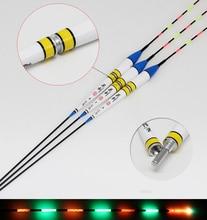 10Pcs/Lot Electronic LED Fishing Float + CR425 Battery Carp Lake River Luminous Night Bobbers FU032