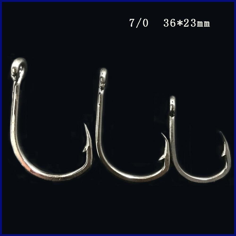 CN06 7 0 100pcs Stainless steel Assist hook Sea font b Fishing b font Hook Jigging