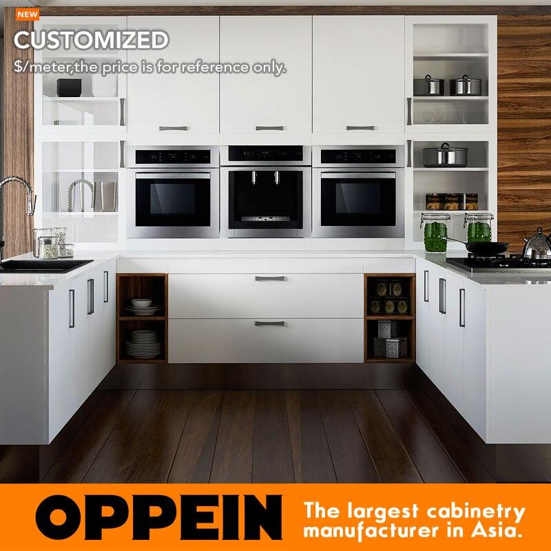 €412.39 |Muebles de cocina de melamina baratos Guangzhou OP15 M06-in  Armarios de cocina from Mejoras para el hogar on AliExpress