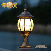 outdoor Wall column light vintage pumpkin lamp post waterproof garden lamp spot E27 LED Bulb available 110V/220V rustproof