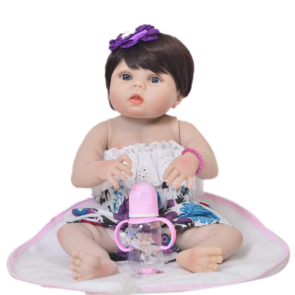 Lifelike Princess 57 Cm Reborn Baby Doll Full Body Silicone Vinyl Realistic Babies Reborn 23'' Baby Girl Playmates Fashion Gifts