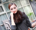 Winter brand new real fur scarves for women natural mink fur shawl shouder warm enough