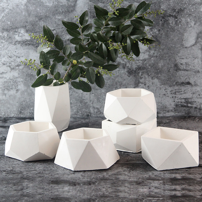 Silicone Concrete Mold Geometric Flower Pot Cement Vase Mould Handmade Multi-flower Planter Garden Decoration Tool