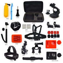 Go Pro Kit Accessories:Bicycle Handlebar+Gopro Chest straps+Floaty sponge+Monopole with adapter+Car Suction cup Gopro GP-K02