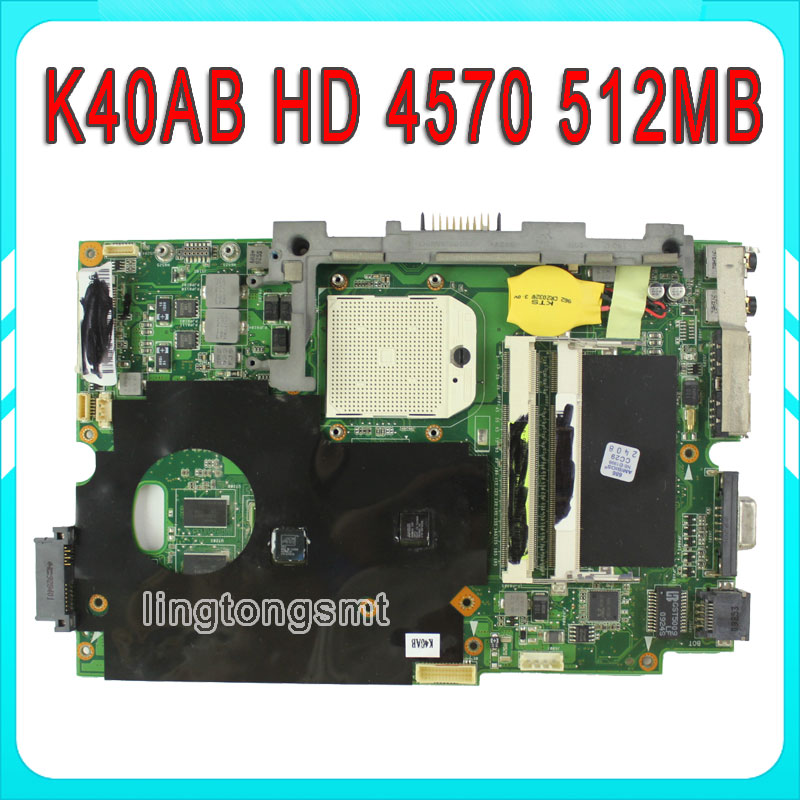 K40AB laptop motherboard for Asus K40AB K40AD K40AF K50AB K50AD K50AF Mainboard DDR2 Mainboard 100% tested [yamala] 2017 pvz plants vs zombies peashooter pvc action figure model toy gifts toys for children high quality brinquedos