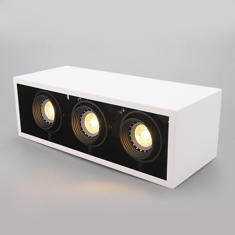 LED Ceiling Lights LED spot lamps illumination 3x10W led ceiling light Rectangle lamp body home Art Lighting for living room