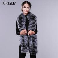 FURTALK Long Real Fox Fur Scarf Winter Women Scarf Fox Fur Luxury Fur Scarf for