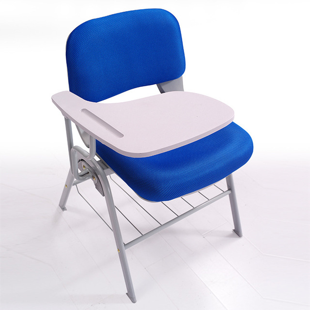 Simple Design Ergonomic Office Chair Foldable Conference Training Staff With Writing Board Mesh Backrest Cushion