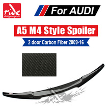 For Audi A5 A5Q High-quality Carbon Rear Spoiler Tail M4 Style Coupe Fiber Trunk Wing 2-Door 09-16