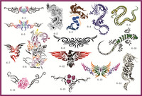 temporary tattoo sticker Book6 Temporary Airbrush Stencils For Body Art Paint Makeup Cosmetics 100 Designs Free Shipping