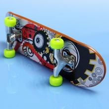 2pcs High Quality Cute Party Favor Kids children Mini Finger Board Fingerboard Alloy Skate Boarding Toys Gift(China)
