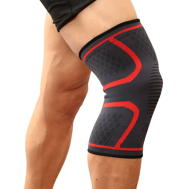 689d5ab83 AOLIKES 2pcs Knee Protector Compression Sleeves Brace Support Breathable  Knee Pad Training Elastic for Running Fitness joelheira