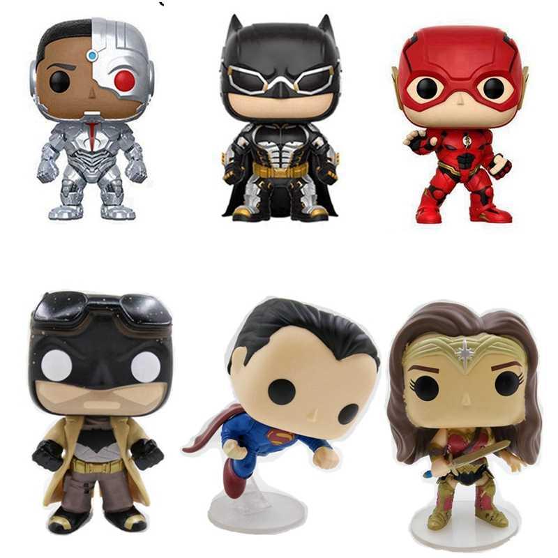 10 см Лига справедливости Аквамен/Артур Карри Flash Супермен Бэтмен чудо-женщина Бат человек Фигурки героев игрушки нет Цвет коробка