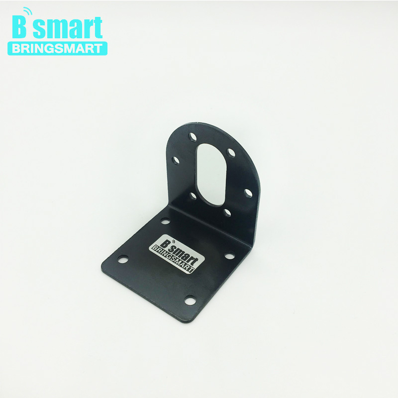 Bringsmart Mounting Bracket for 37mm Gearbox Diameter Gear Motor Parts Fixed With Screw Hardware DIY Stands Mini Motor Support wholesale bringsmart 37mm diameter gear motor mounting bracket with screw shaft coupling for diy car use fixed motor bracket