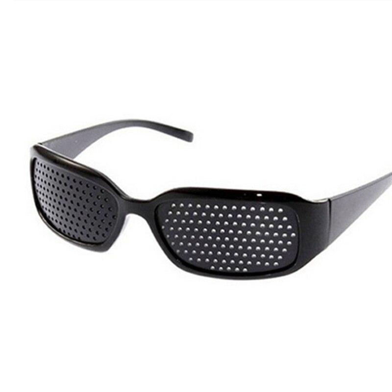 Hot Black Unisex Vision Care Pin Hole Eyeglasses Glasses