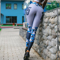 Pattern Legging Active Pants Women Sports Running Jeggings Gym Wear Tight Slim Fitness Workout Female Spandex Athletic Apparel