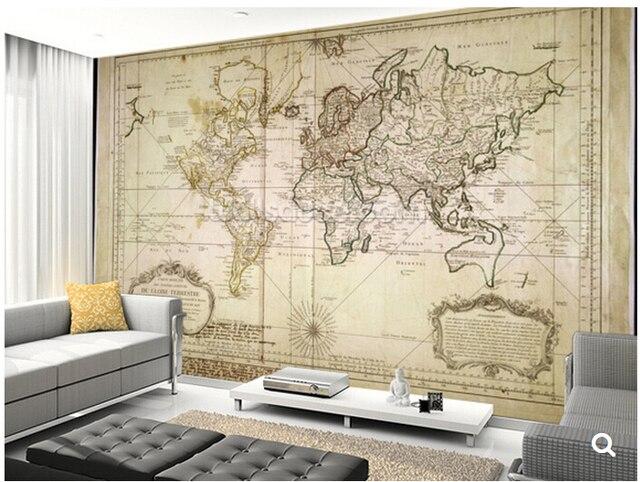 Aliexpresscom Comprar Papel De Parede Infantil Personalizado Mapa - Habitacion-retro