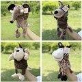Nueva Llegada de la Felpa Títeres Sika Deer Mono Elefante Lobo Muñeca Early Educativos Juguetes Marionetas de Mano Mejores Regalos de Juguetes Caliente
