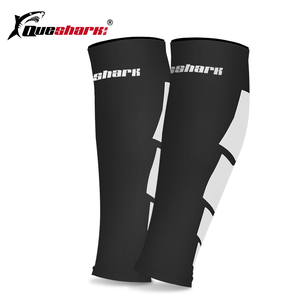 209e6537c4 Queshark Basketball Running Calf Sleeve Cycling Legwarmers Compression  Socks Men Women Runners Shin Guards Leg Sleeve-in Cycling Legwarmers from  Sports ...