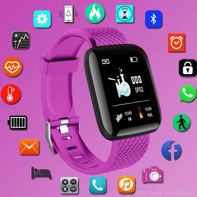 Thể Thao thời trang Đồng Hồ Thông Minh Nam Nữ Cho Android IOS Đồng Hồ Thông Minh Theo Dõi Sức Khỏe Điện Tử Đồng Hồ Thông Minh Smart-Dây Đồng Hồ Đeo Tay