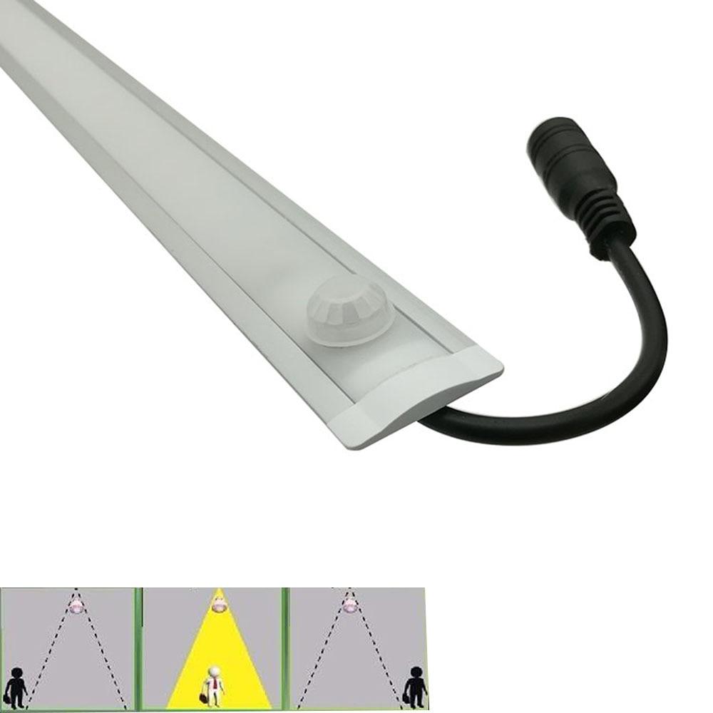 5pcs 0 5m Korea 8520 led strip rigid PIR sensor dimmable Kitchen strip light Super Bright