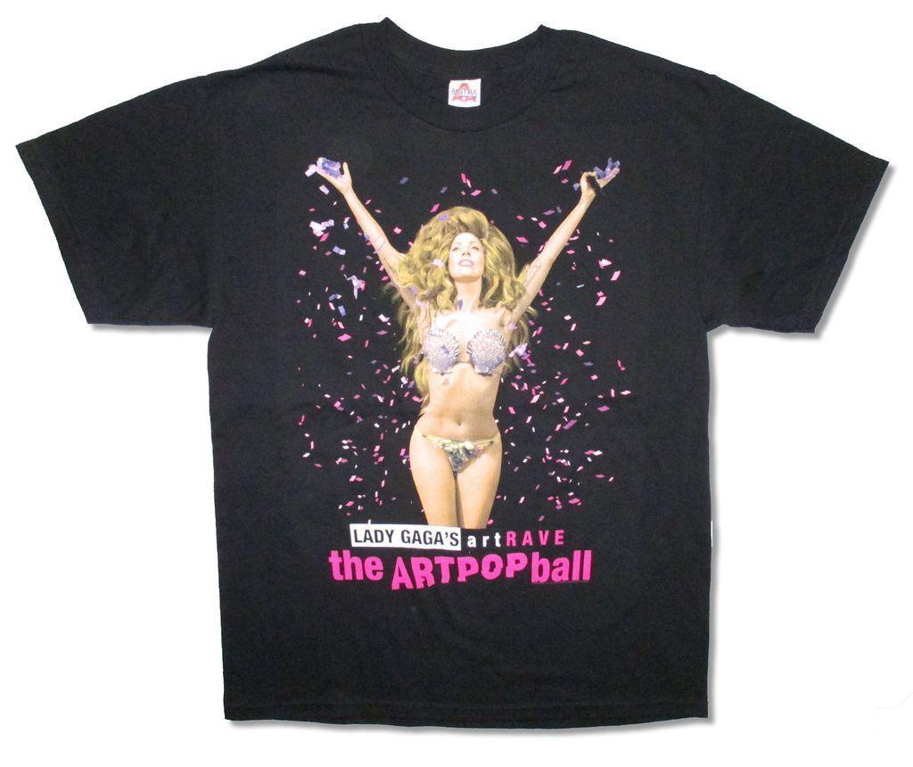 Lady Gaga Admat Artpop Artrave Tour Adult Black T Shirt New Official