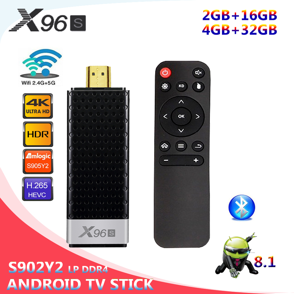 32G Smart set-top Box Bluetooth 4.2 X96S Network Player S905Y2 Android 8.1 4G