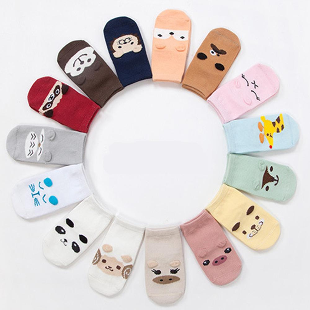 Hot Sale Children Cotton Anti Slip Socks Baby Comfortable Cartoon Lovely Animal Infant Socks For Boy Girl 0-2 Years