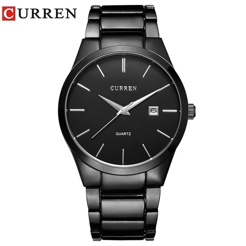 Relogio Masculino CURREN Luxury Brand Full Stainless Steel Analog Display Date Men S Quartz Watch Business