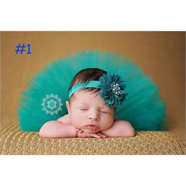Falda del bebé del tutú y venda de La Flor fotografía falda mullida ...