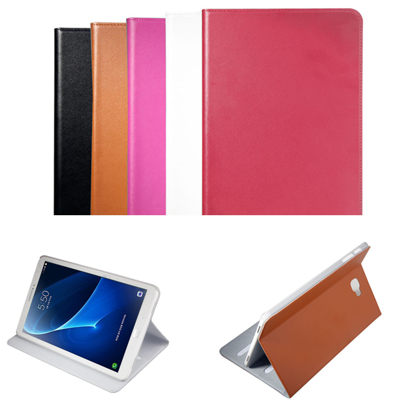 ZP Genuine leather Flip Stand Case For Samsung Galaxy Tab A A6 10.1 inch 2016 T585C T580N T580 T585 SM-T580N Luxury Tablet Cover fashion painted flip pu leather for samsung galaxy tab a 10 1 sm t580 t585 t580n 10 1 inch tablet smart case cover pen film