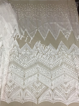 stock F013# 5yards/BAG offwhite french embroidery luxury pattern design net tulle mesh lace  for sawing/wedding/occasion