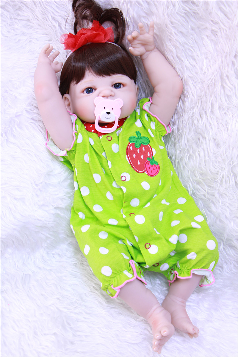 Милые девушки кукла реборн младенцев 22 55 см всего тела силиконовые куклы Reborn для детей подарок на день рождения Bebe реальные живые возрождается boneca - 5