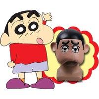 크레용 신 짱 마스크 일본 애니메이션 코스프레 마스크 착용 라텍스 성인 할로윈 파티 마스