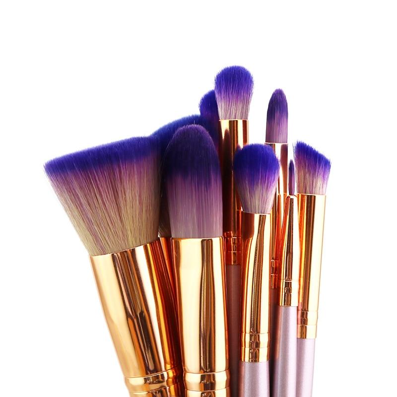 Tesoura de Maquiagem 9 pcs unicórnio profissional pincéis Drop Shipping : Acceptable