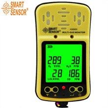 Мульти газовый монитор ручной детектор газа умный датчик AS8900 использование для кислорода, окиси углерода, обнаружения водородного газа