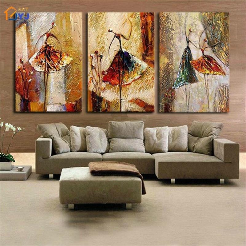 Балерина холст картины искусства 100% ручная роспись современная абстрактная живопись маслом на холст стены искусства подарок не оформлена Decora TH146