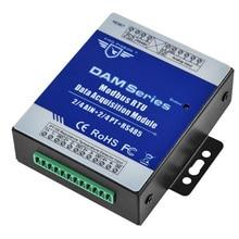 Módulo remoto rtu do io da categoria industrial para o monitor de energia industrial & medidor de fluxo ain + temperatura modbus rtu remoto io dam124