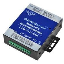 Przemysłowy zdalny moduł IO RTU do przemysłowego miernik zużycia energii i przepływomierz AIN + temperatura modbus RTU Remote IO DAM124