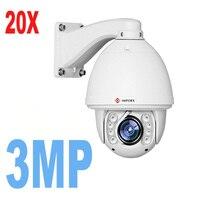 English Version 3MP Network Mini PTZ CCTV Camera With 50m IR 20X 30x Optical Zoom High