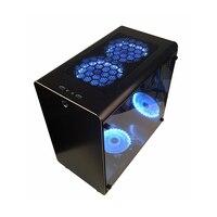 PC Gamer Case Tower, шкаф для охлаждения компьютера, мини пустой корпус, все-алюминиевые материнские платы ATX/MATX, прозрачная защита от пыли, лучшее