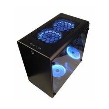 PC Gamer корпус башня охлаждающий шкаф компьютер мини пустой шасси полностью алюминиевый ATX/MATX Материнские платы прозрачный пыленепроницаемый лучший