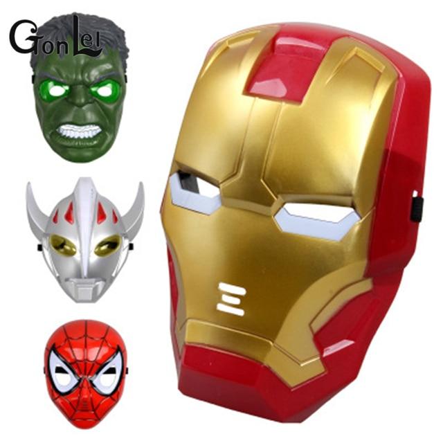 GonLeI 1 pc LEVOU Máscara de Super-heróis de Brinquedo Kid & Adulto Avengers Marvel Capitão América Homem De Ferro Hulk Spiderman Batman Partido máscara de Brinquedos