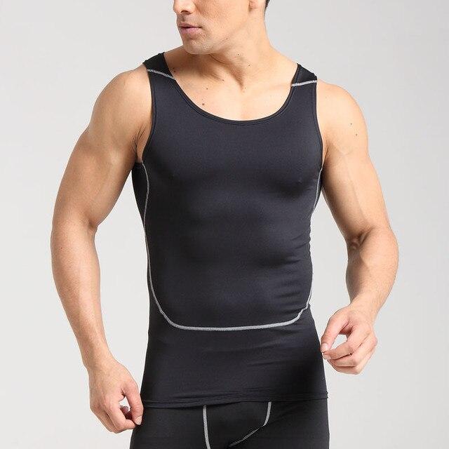 Men Running Vests Weight Loss Mens Body Building Shaper Vest Trimmer Tummy Shirt Hot Girdle breathable 1