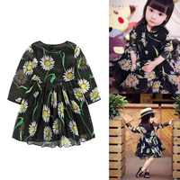Flower Girls Dress Spring Girl Children Clothing Brand Clothes Kids Dress For Princess Holiday Party Wedding