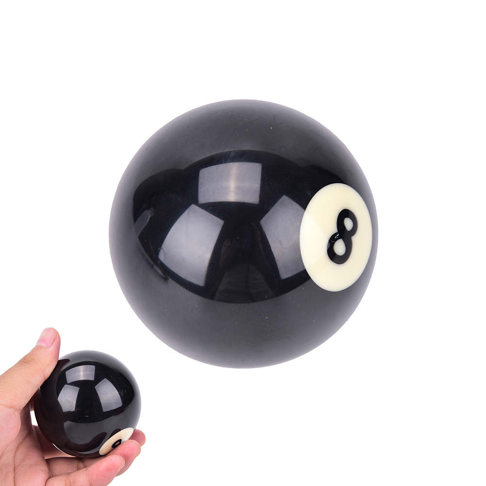 1 PCS Black 8 Ball EA14 Billiard Balls #8 Billiard Pool Ball Replacement EIGHT BALL Standard Regular Two Size 52.5/57.2 Mm